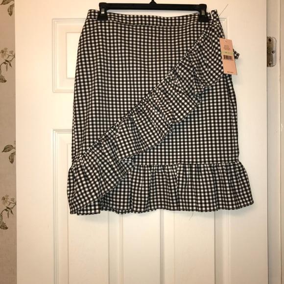 0e2cbdf020109 Nanette Lepore Skirts | Nwt Black White Gingham Mini Skirt | Poshmark